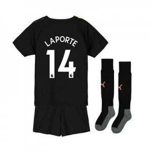 Manchester City Away Mini Kit 2019-20 with Laporte 14 printing