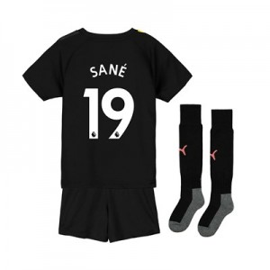 Manchester City Away Mini Kit 2019-20 with Sané 19 printing