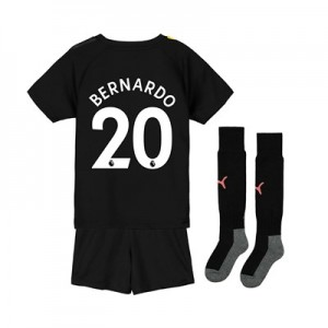 Manchester City Away Mini Kit 2019-20 with Bernardo 20 printing