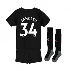 Manchester City Away Mini Kit 2019-20 with Sandler 34 printing