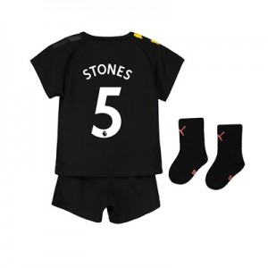 Manchester City Away Baby Kit 2019-20 with Stones 5 printing
