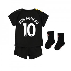 Manchester City Away Baby Kit 2019-20 with Kun Agüero  10 printing