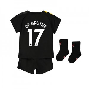Manchester City Away Baby Kit 2019-20 with De Bruyne 17 printing