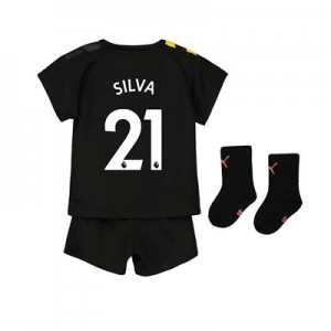 Manchester City Away Baby Kit 2019-20 with Silva 21 printing