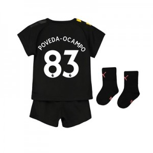 Manchester City Away Baby Kit 2019-20 with Poveda-Ocampo 83 printing