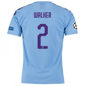 Manchester City Authentic UEFA Home Shirt 2019-20 with Walker 2 printing