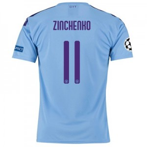 Manchester City Authentic UEFA Home Shirt 2019-20 with Zinchenko 11 printing