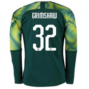 Manchester City Home Cup Goalkeeper Shirt 2019-20 with Grimshaw 32 printing