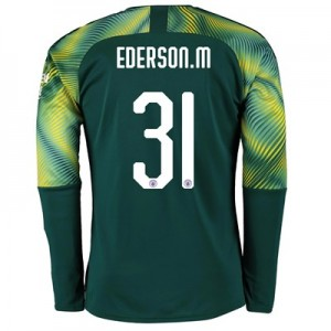 Manchester City Home Cup Goalkeeper Shirt 2019-20 with Ederson M. 31 printing