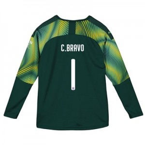 Manchester City Home Cup Goalkeeper Shirt 2019-20 - Kids with C.Bravo 1 printing