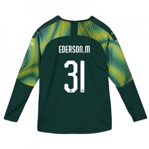 Manchester City Home Cup Goalkeeper Shirt 2019-20 - Kids with Ederson M. 31 printing