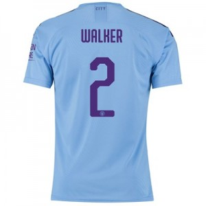 Manchester City Authentic Cup Home Shirt 2019-20 with Walker 2 printing