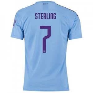 Manchester City Authentic Cup Home Shirt 2019-20 with Sterling 7 printing