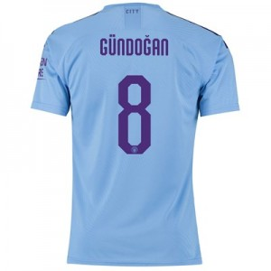 Manchester City Authentic Cup Home Shirt 2019-20 with Gündogan 8 printing