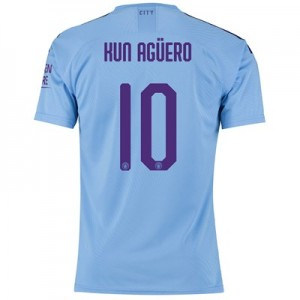Manchester City Authentic Cup Home Shirt 2019-20 with Kun Agüero  10 printing