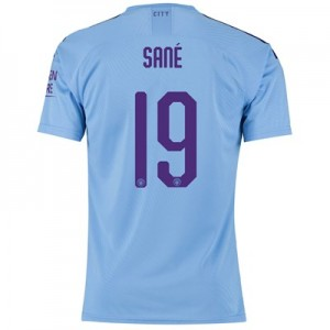 Manchester City Authentic Cup Home Shirt 2019-20 with Sané 19 printing