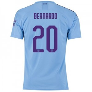 Manchester City Authentic Cup Home Shirt 2019-20 with Bernardo 20 printing