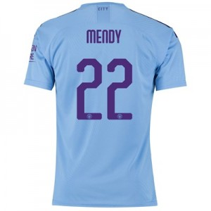 Manchester City Authentic Cup Home Shirt 2019-20 with Mendy 22 printing