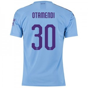 Manchester City Authentic Cup Home Shirt 2019-20 with Otamendi 30 printing