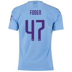 Manchester City Authentic Cup Home Shirt 2019-20 with Foden 47 printing
