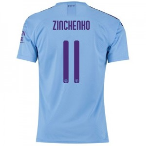 Manchester City Authentic Cup Home Shirt 2019-20 with Zinchenko 11 printing