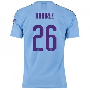 Manchester City Authentic Cup Home Shirt 2019-20 with Mahrez 26 printing
