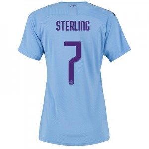 Manchester City Authentic Cup Home Shirt 2019-20 - Womens with Sterling 7 printing