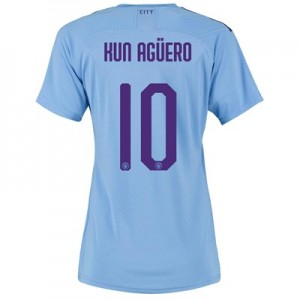 Manchester City Authentic Cup Home Shirt 2019-20 - Womens with Kun Agüero  10 printing