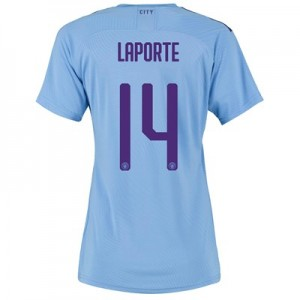 Manchester City Authentic Cup Home Shirt 2019-20 - Womens with Laporte 14 printing