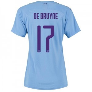 Manchester City Authentic Cup Home Shirt 2019-20 - Womens with De Bruyne 17 printing
