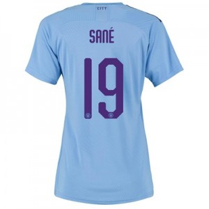 Manchester City Authentic Cup Home Shirt 2019-20 - Womens with Sané 19 printing