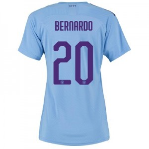 Manchester City Authentic Cup Home Shirt 2019-20 - Womens with Bernardo 20 printing