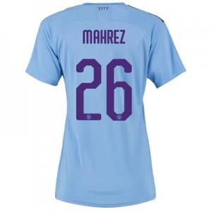 Manchester City Authentic Cup Home Shirt 2019-20 - Womens with Mahrez 26 printing
