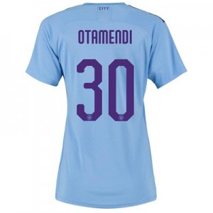 Manchester City Authentic Cup Home Shirt 2019-20 - Womens with Otamendi 30 printing