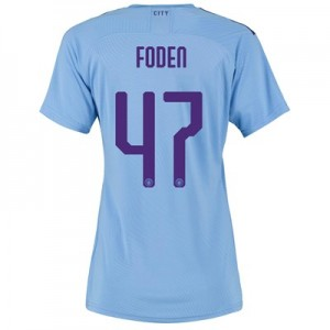 Manchester City Authentic Cup Home Shirt 2019-20 - Womens with Foden 47 printing