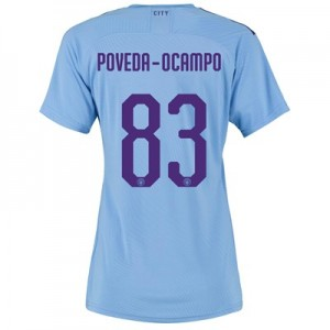 Manchester City Authentic Cup Home Shirt 2019-20 - Womens with Poveda-Ocampo 83 printing