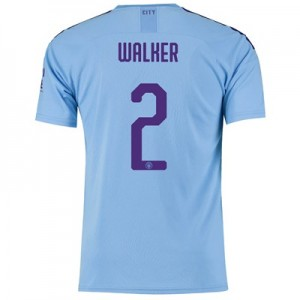 Manchester City Cup Home Shirt 2019-20 with Walker 2 printing