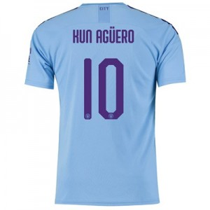 Manchester City Cup Home Shirt 2019-20 with Kun Agüero  10 printing