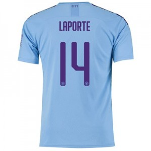 Manchester City Cup Home Shirt 2019-20 with Laporte 14 printing