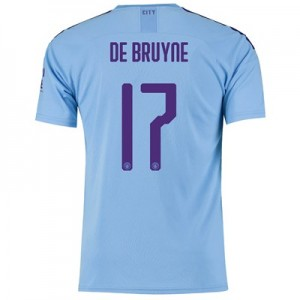 Manchester City Cup Home Shirt 2019-20 with De Bruyne 17 printing