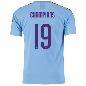 Manchester City Cup Home Shirt 2019-20 with Champions 19 printing