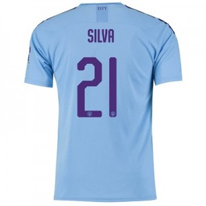 Manchester City Cup Home Shirt 2019-20 with Silva 21 printing