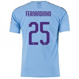 Manchester City Cup Home Shirt 2019-20 with Fernandinho 25 printing