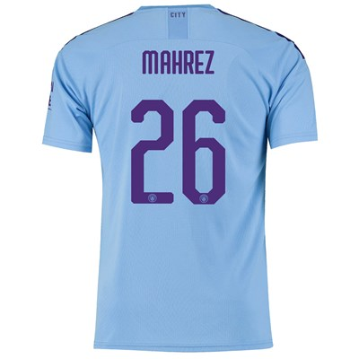 Manchester City Cup Home Shirt 2019-20 with Mahrez 26 printing