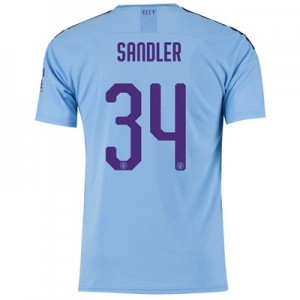 Manchester City Cup Home Shirt 2019-20 with Sandler 34 printing