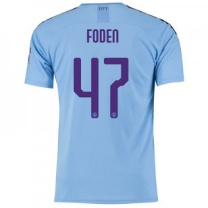 Manchester City Cup Home Shirt 2019-20 with Foden 47 printing