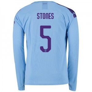 Manchester City Cup Home Shirt 2019-20 - Long Sleeve with Stones 5 printing