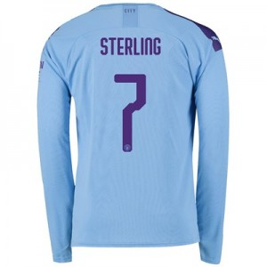 Manchester City Cup Home Shirt 2019-20 - Long Sleeve with Sterling 7 printing