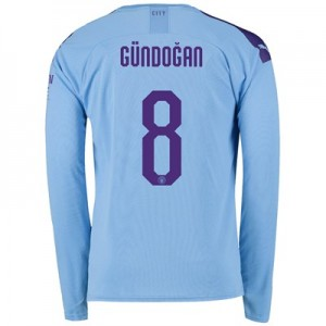 Manchester City Cup Home Shirt 2019-20 - Long Sleeve with Gündogan 8 printing