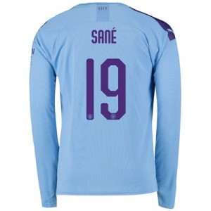 Manchester City Cup Home Shirt 2019-20 - Long Sleeve with Sané 19 printing